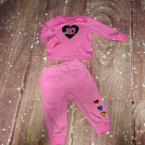 Juicy Couture Pink Matching Long Sleeve & Leggings